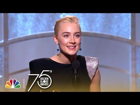 Xxx Mp4 Saoirse Ronan Wins Best Actress In A Comedy At The 2018 Golden Globes 3gp Sex