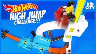 Hot Wheels HIGH JUMP Challenge with Batman Angry Birds & Disney Cars by KIDCITY