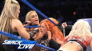 Nikki Bella, Becky Lynch & Naomi vs. Natalya, Alexa Bliss & Carmella: SmackDown LIVE, Sept. 6, 2016