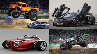 Cars and Big Monster Trucks for Kids | Cool Sports Cars and Monster Trucks for Children