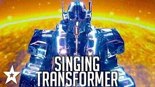 TRANSFORMER Robot Sings on Britain