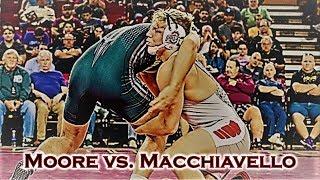 Kollin Moore vs Michael Macchiavello (Ohio State vs. NC State Wrestling Dual)
