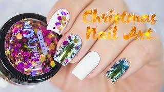 Easy Christmas Nail Art / Простой новогодний дизайн ногтей