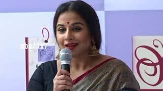 Actress Vidya Balan cute Tamil speech, that she Love Sarees | nba 24x7