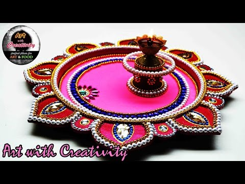 Xxx Mp4 DIY How To Make Decorated Thali Handmade Thali Puja Thali Art With Creativity 119 3gp Sex