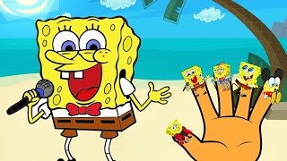 SpongeBob SquarePants Finger Family Song Nursery Rhymes | SpongeBob Songs Cartoon Baby Learning Song