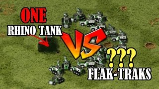 RA2 - 1 Rhino vs lots of Flak Tracks