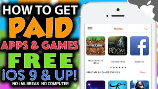 How To Get PAID APPS / GAMES FREE On iOS 10.0.2 & ↓ (NO JAILBREAK) (NO COMPUTER) iPhone iPad iPod
