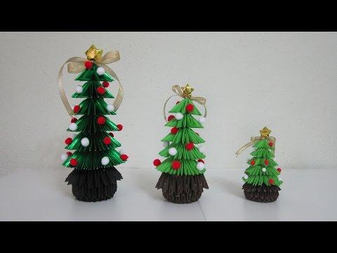 TUTORIAL - 3D Origami Christmas Tree