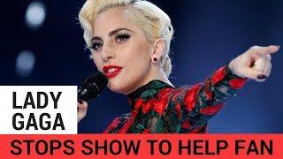 Lady Gaga Stops Concert to Help Bleeding Fan