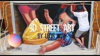 How to create 3d street art by Leon Keer