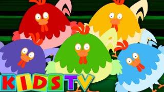 Five big Roosters | Roosters Popular Rhymes | Baby videos Kids Tv Nursery Rhymes