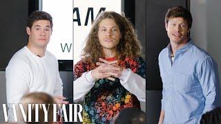 Adam Devine, Blake Anderson & Anders Holm Improvise a PowerPoint Presentation | Vanity Fair