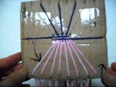 Como Hacer Un Pulsera De Amistad Con un Cuadro de Carton
