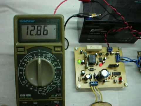Cargador automático de baterías Luz de emergencia