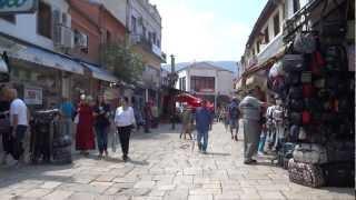 Walking in Skopje, Macedonia