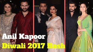 Bollywood Stars Arrive At Anil Kapoor Diwali Party 2017