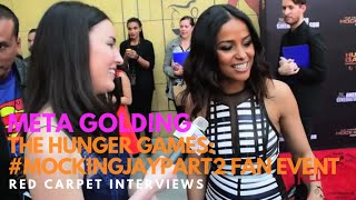 Meta Golding #Enobaria at the The Hunger Games: #MockingJayPart2 Fan Event #HungerGamesCollection