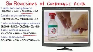 Carboxylic Acids 5. Chemical reactions