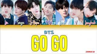 BTS (방탄소년단) - Go Go (고민보다 Go)-가사 (Sub español+Eng Sub+Roma+Han+Lyrics+Colorcodedlyrics) (Live ver.)