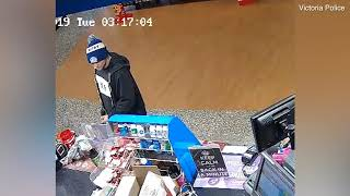 Terrifying moment robber with shotgun holds up a service station