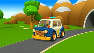 Coche de policía - Camión de bomberos - Ambulancia - Carros para niños