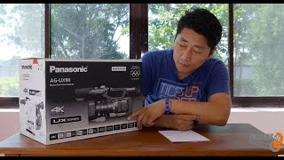 Panasonic AG-UX90 4K Professional Camcorder : Unboxing : Review