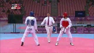 Taekwondo 29th Summer Universiade Taipei2017 -74kg Final Jaysen Scott(USA) vs Ramin Zadeh (IRI)
