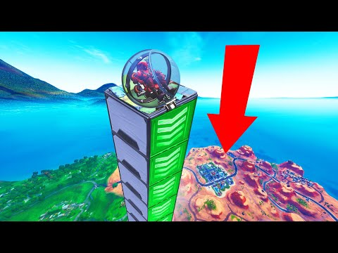 How FAR Can A BALLER FLY In FORTNITE Experiment