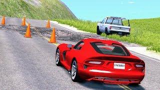 Road Trap Crashes #5 - BeamNG Drive