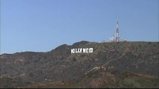 Pranksters change iconic Hollywood sign to 'Hollyweed'