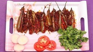 Spicy and Tasty Masala Brinjal Recipe || Myna Street Food
