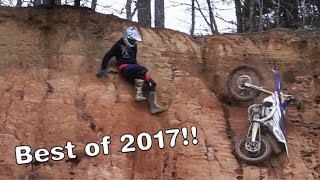 BEST OF 2017   Dirt Bike crashes and funny moments!