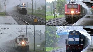 Extreme monsoon Rail-fanning!! 24 trains, 7 friends, and unlimited action of Diesels, and E-locos!!