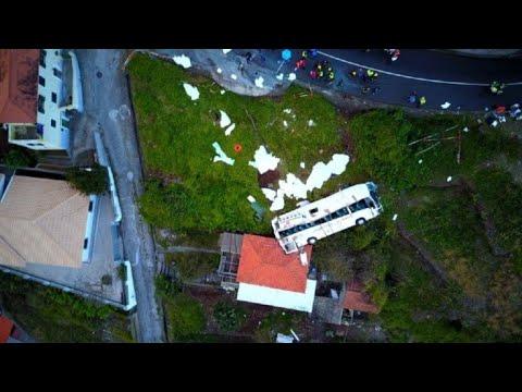 Xxx Mp4 Drone Footage Shows Site Of Portuguese Tourist Bus Accident 3gp Sex