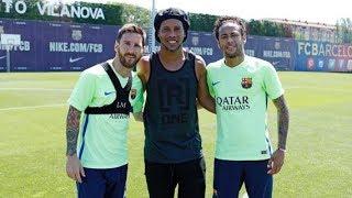 Ronaldinho y Messi se reencuentran (24/05/2017)