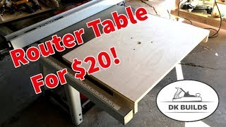 How to Build a Cheap Router Table Extension (And Fence!)