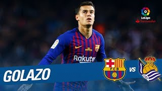 Golazo de Coutinho (1-0) FC Barcelona vs Real Sociedad