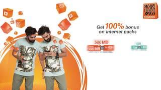 100% Bonus on internet packs