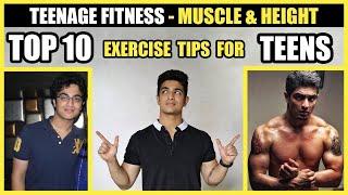 TOP 10 Fitness Tips for TEENS - Build Muscle + Get Taller | BeerBiceps Teenage Fitness