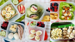 5 Healthy School and Office Lunch Ideas with Hard Boiled Eggs