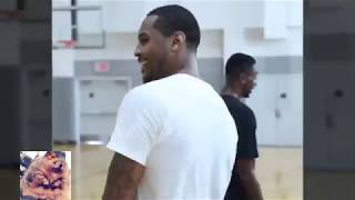 Carmelo Anthony Smashed Iman Shumpert And Shows Rockets Hoodie Melo Is Back!