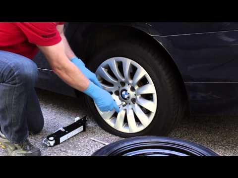 Changing a Flat Tire on a BMW or MINI - BavAuto Space Saver Spare Tire Kit