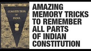 Tricks to Remember all Parts of the Indian Constitution by Roman Saini (UPSC CSE/IAS, SSC CGL)