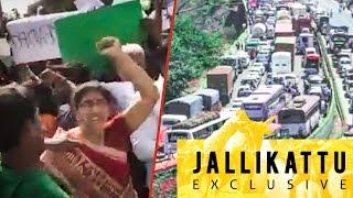 Jallikattu Protest by Tamils on Pune - Mumbai Highway