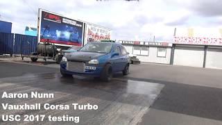 USC 2017 FWD Drag Testing Aaron Nunn Corsa turbo