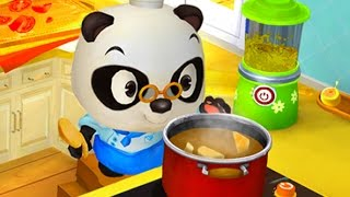 Baby Panda Chef  & Choose The Vegetables & Use The Kitchen To Make The Pizza | Cooking Game For Kids