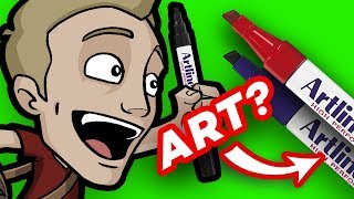 ART with PERMANENT MARKERS? - No Undo Possible!