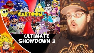 CARTOON FIGHT CLUB ULTIMATE SHOWDOWN 3! (BILL CIPHER vs SANIC, SMG4, DBS, FNAF, UNDERTALE) REACTION!