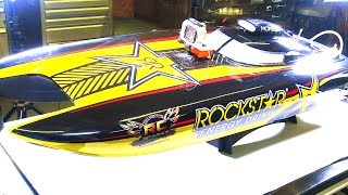 "RC ADVENTURES - Starting a ROCKSTAR 48"" PROBOAT After 2 YEARS! Catamaran RTR 2.4GHz Gas RC Boat"